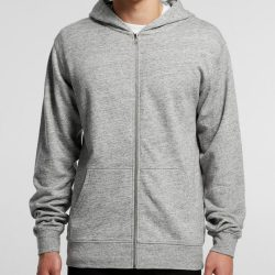 Sample image of plain AS Colour 5124 Fleck Zip Hoodie
